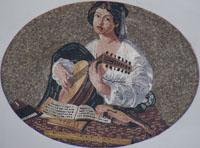 mosaic marble figure