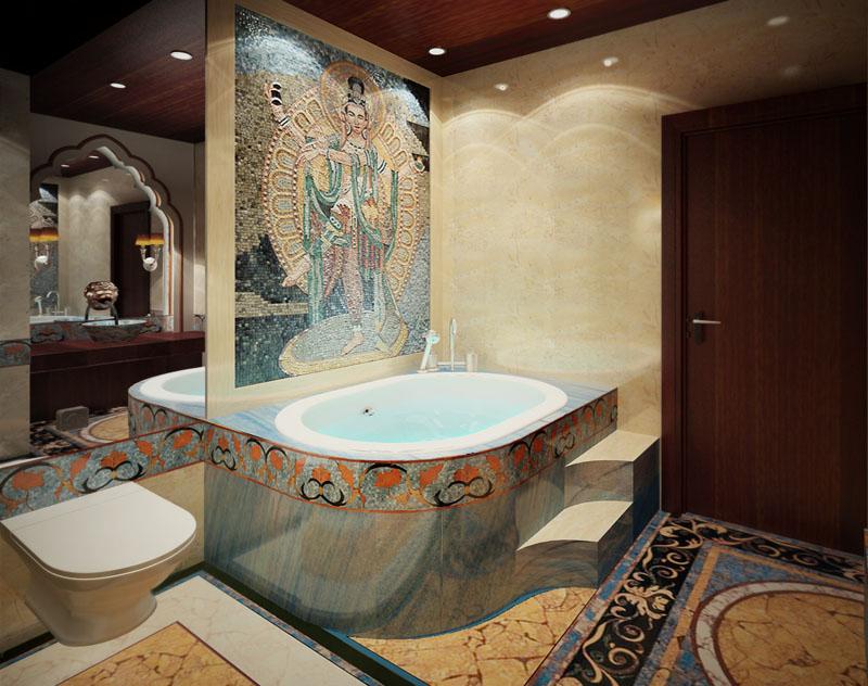 Bathtub Jacuzzi Mosaic Covers
