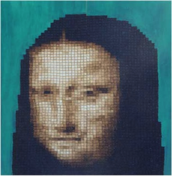 Mona Lisa Toast Mosaic