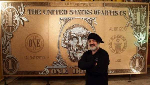 Strati Dollar Bill Mosaic Homer