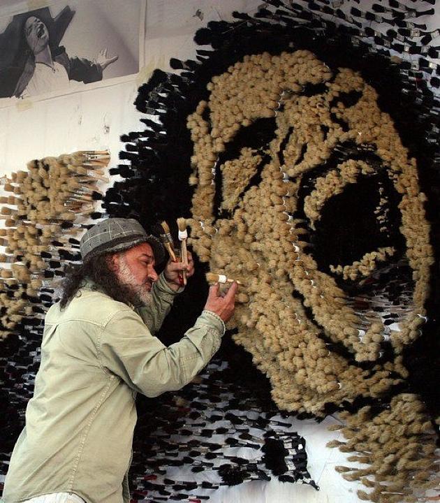 Strati Paint Brush Mosaic Michael Jackson
