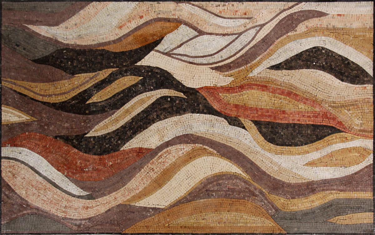 cr1178 earth colors waves mosaic carpet - Earth Colors