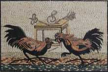 Roosters Battle Mosaic