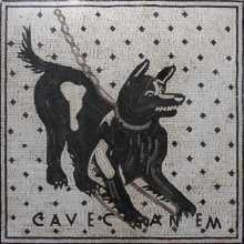AN1088 Friendly Black Dog  Mosaic