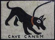 AN1118 Black Dog Cave Canem Mosaic