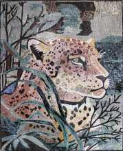 AN185 Leopard Head  Mosaic