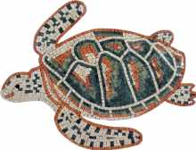 Green & Red Sea Turtle Mosaic