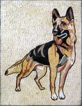 AN253 German Schepherd  Mosaic