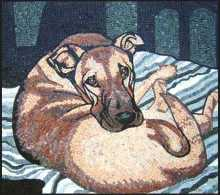 AN309 Lying dog Mosaic