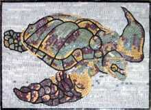 AN328 Colorful sea turtle Mosaic