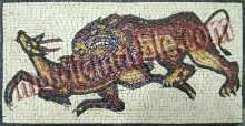 AN452 Lion and prey hunting scene Mosaic