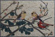 Birds on a Branch Mosaic