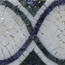 Black & White Rope Border Mirror Art Mosaic