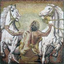 Warrior with White Horses Mosaic