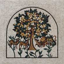 Arched Tree of Life Wall Mosaic