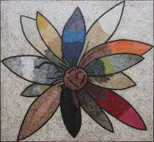 Multi-color Bold Flower  Mosaic