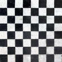 Black & White Chessboard  Mosaic