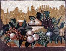 Big Fruits Still Life Kitchen Backsplash Mosaic