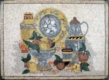Jugs & Fruit Bowl Still Life Kitchen Backsplash Mosaic