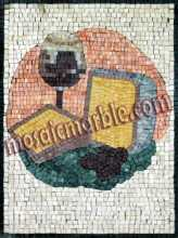 Cheese & Wine Still Life Kitchen Backsplash Mosaic