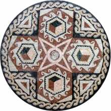 MD229 shapes & braids medallion Mosaic