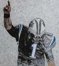 American Football Player Portrait Mosaic