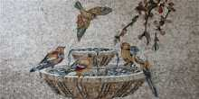 Birds Fountain Mosaic Mural