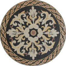 Classic Floral Central Floor Medallion Mosaic