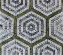 Repetitive Hexagon Pattern Tile Mosaic