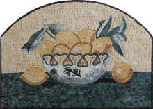 Fruit Basket Lemons Mosaic Backsplash