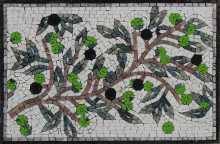 Mediterranean Olives Outdoor Mosaic