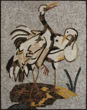 Heron Birds Wall Mosaic