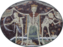 Macabre Dance Mosaic Wall Art