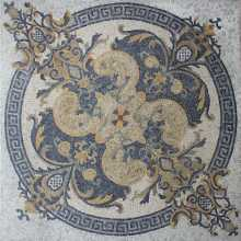 POLISHED Marble Floor Tile Square Rug